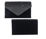 Patent leather small clutch bag with removable strap