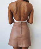 Sexy summer jumpsuit crisscross open back