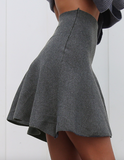 Preppy pleated A-line mini skirt