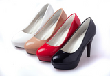 Elegant & sleek patent leather platform high heels ~ 4 colors