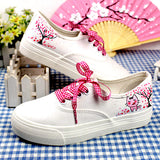 Colorful lace-up hand-painted canvas sneakers ~ 9 styles!