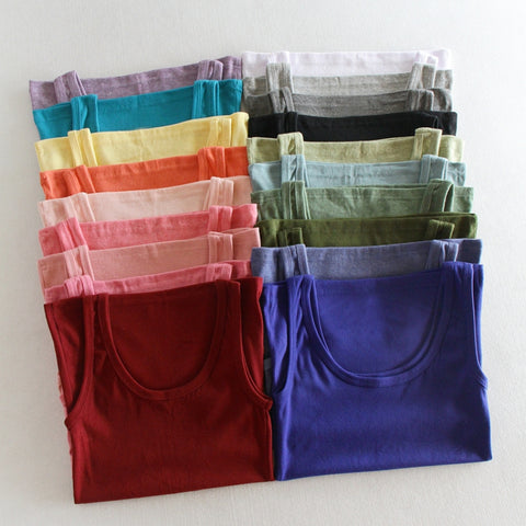 Cotton quality material slim fit tank top ~ 19 colors!
