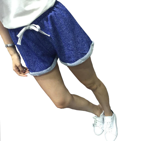 Casual loose fit cotton polyester drawstring shorts ~ 7 colors!