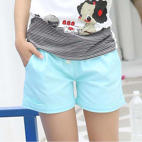 Cotton elastic drawstring waist shorts  in 11 colors