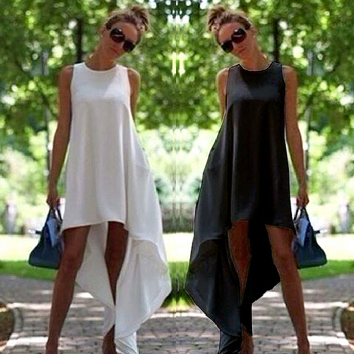 High low cut sundress with a loose fit