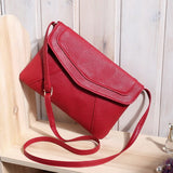 Envelope style leather crossbody messenger bag ~ 7 colors!