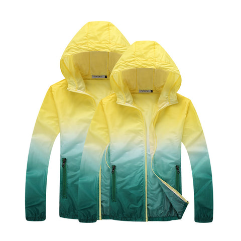 Tri colored hooded lightweight windbreaker ~ Plus size available 3c6b744c1