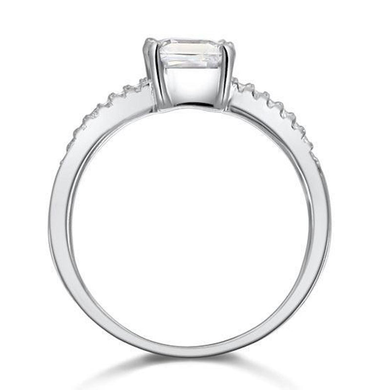 Prong Setting 1 Carat Princess Cut Ring