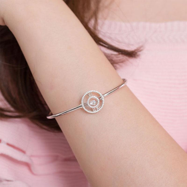 Swaying Stone | Roman Numeral 4.5(mm) Bangle Bracelet