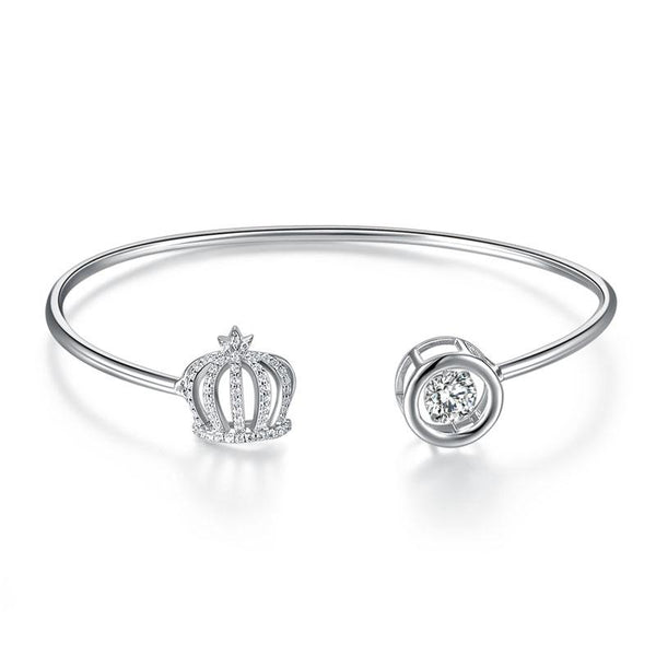 Sterling Silver, Crown Bracelet, Casual, Cocktail, Fashion
