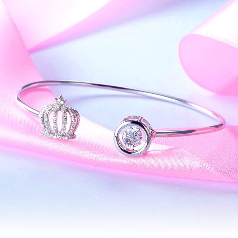 Sterling Silver, Crown Bracelet, Casual, Cocktail, Fashion, Bangle