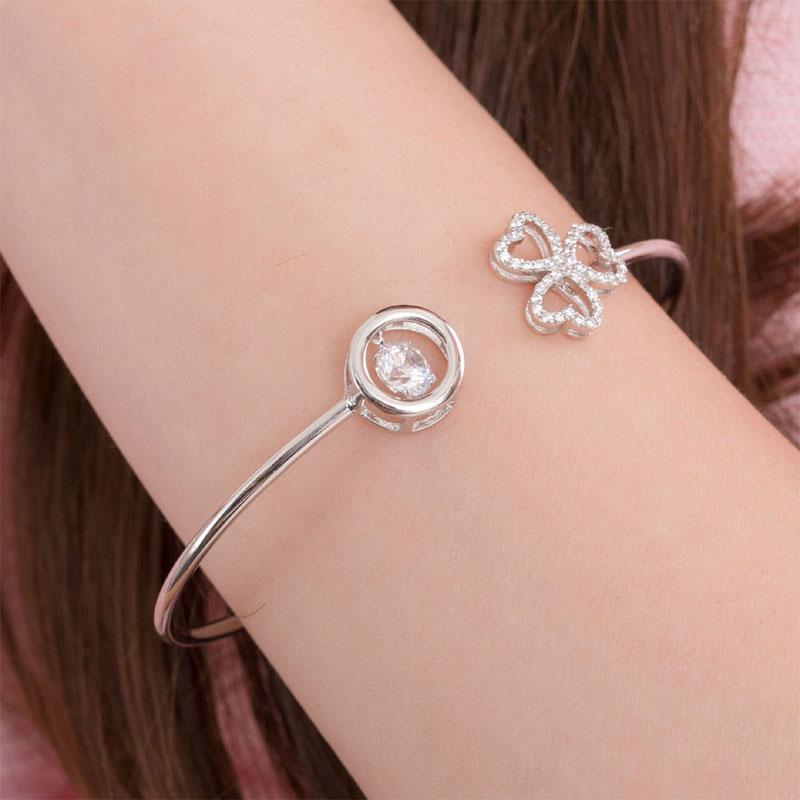 Sterling Silver, Flower, Bracelet, Casual, Cocktail, Fashion