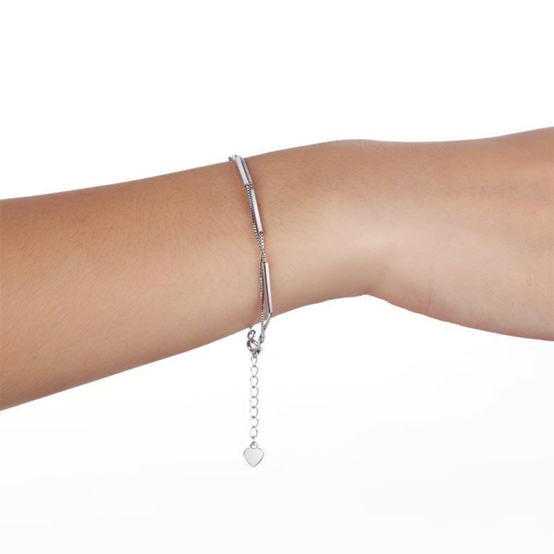 Double Plated Chain Bracelet