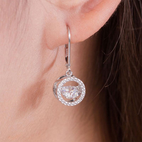 Swaying Stone | 0.8 Carat Bezeled Dangle Earrings