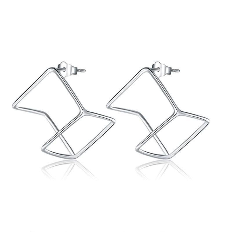 Cube Shaped Dangle Studs