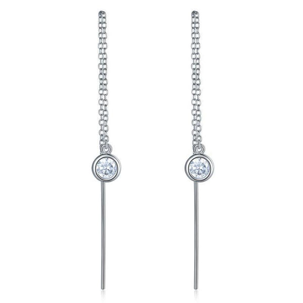 Long Line Elegant Drop Earrings