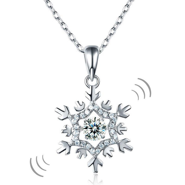 DBE Jewels, SnowFlake, 4.5mm, Pendant, Winter, Cute, Moving