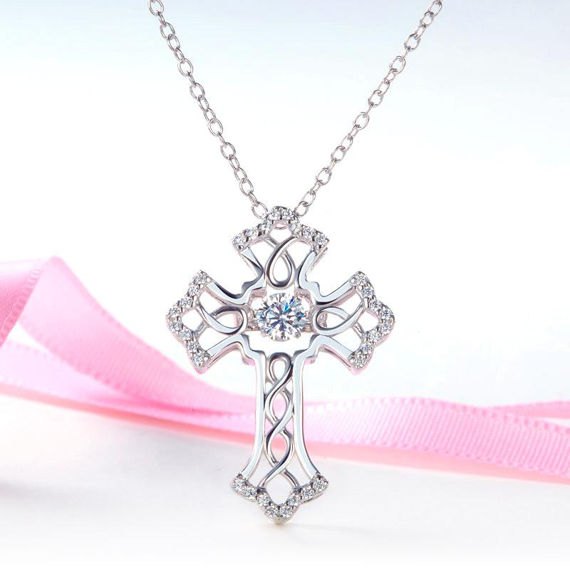 Swaying Stone | Vintage Twisted Embedded Cross