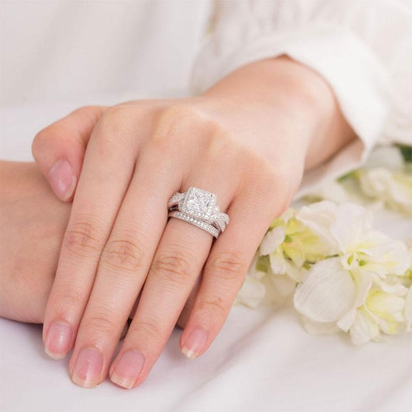 Vintage Princess Cut 1.5 Carat Ring Set