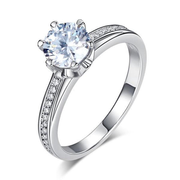 Round Cut 1.5 CT 925 Promise/Engagement Ring