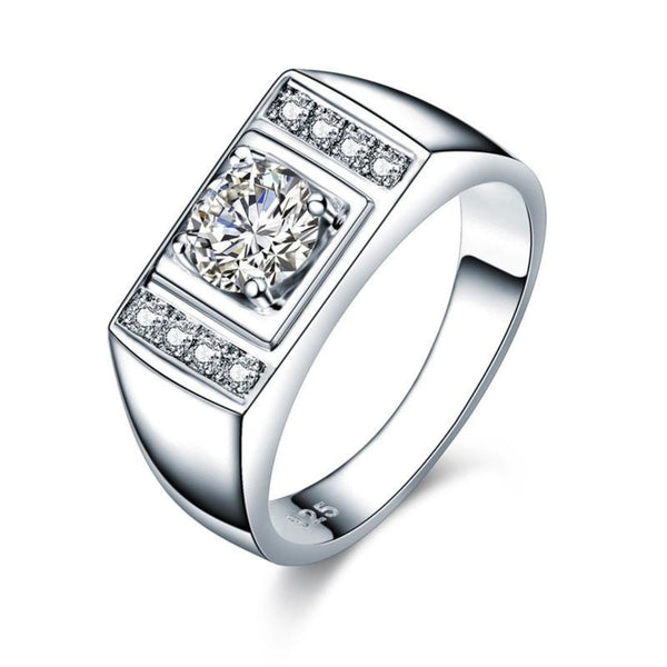Solid Embedded 1 Carat Band RIng
