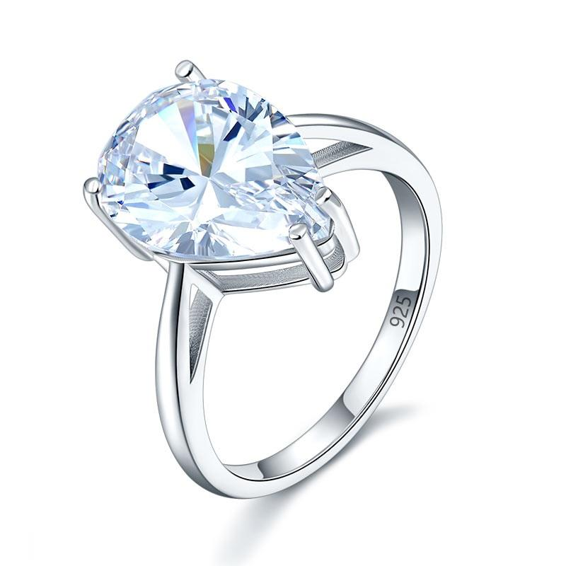 Solitaire Pear Cut 4.5 Carat Luxury Ring