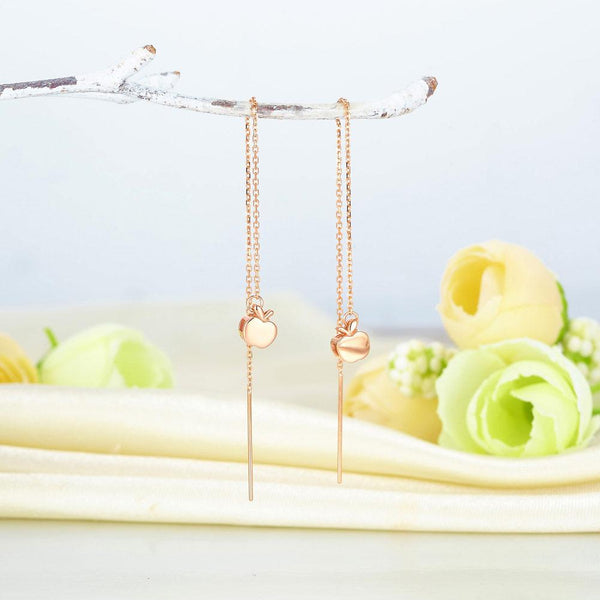 Rose Gold 18K/750 Apple Chain Earrings