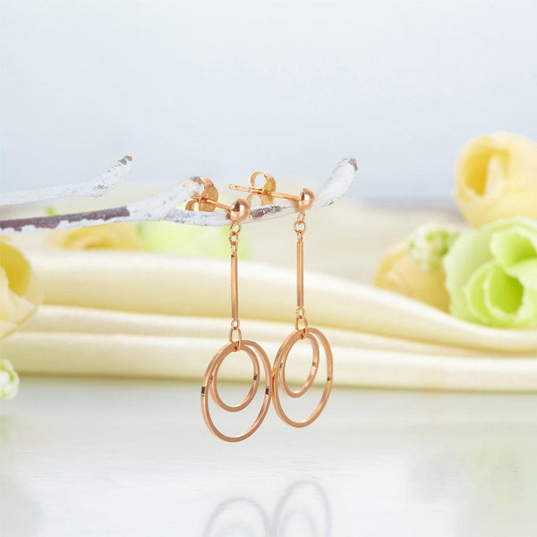 Rose Gold 18K/750 Double Hooped Earrings