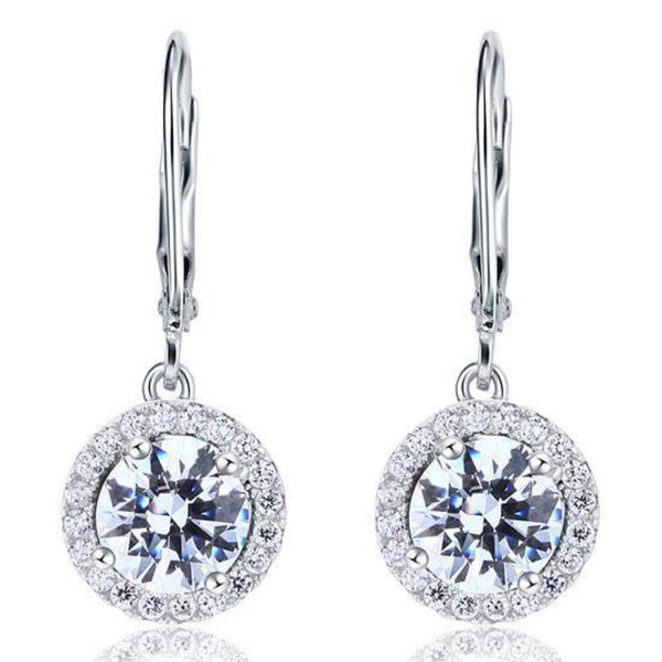 Diamond Earring, White Sapphire, cheap jewelry, dangle earrings