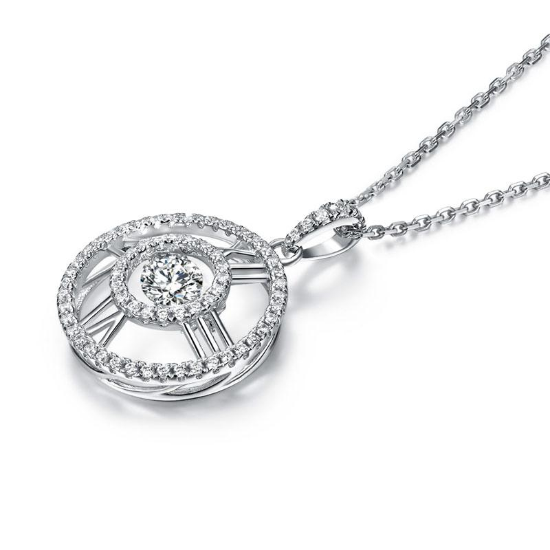 Swaying Stone | Roman Numeral 5.0(mm) Pendant Necklace