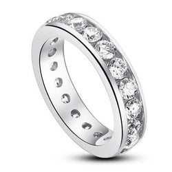 Channel Set 4(mm) Stone Band Ring