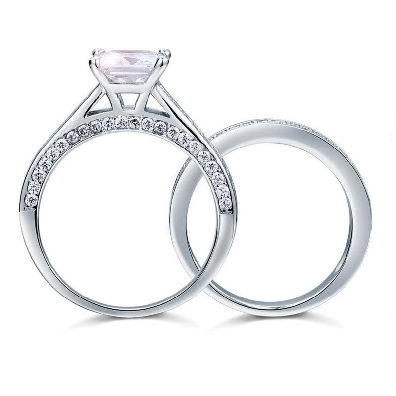 Princess Cut 1.5 Carat Embedded Band Set