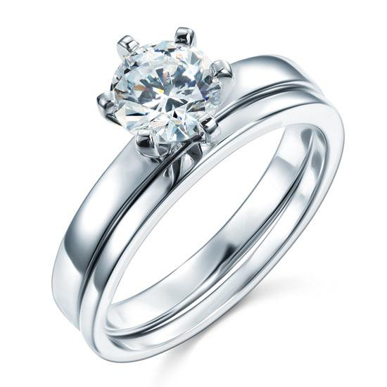 Classic Round Cut 1.25 Carat 2pc Ring Set