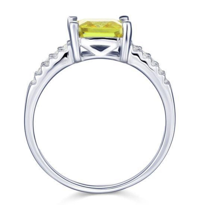 Yellow Canary 2 Carat Princess Cut Ring