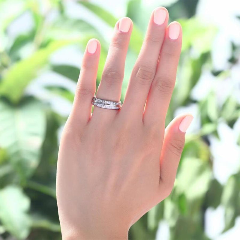 Engagement Ring, White Sapphire Ring, Discount Ring, diamond, jewelry, DBEJewels