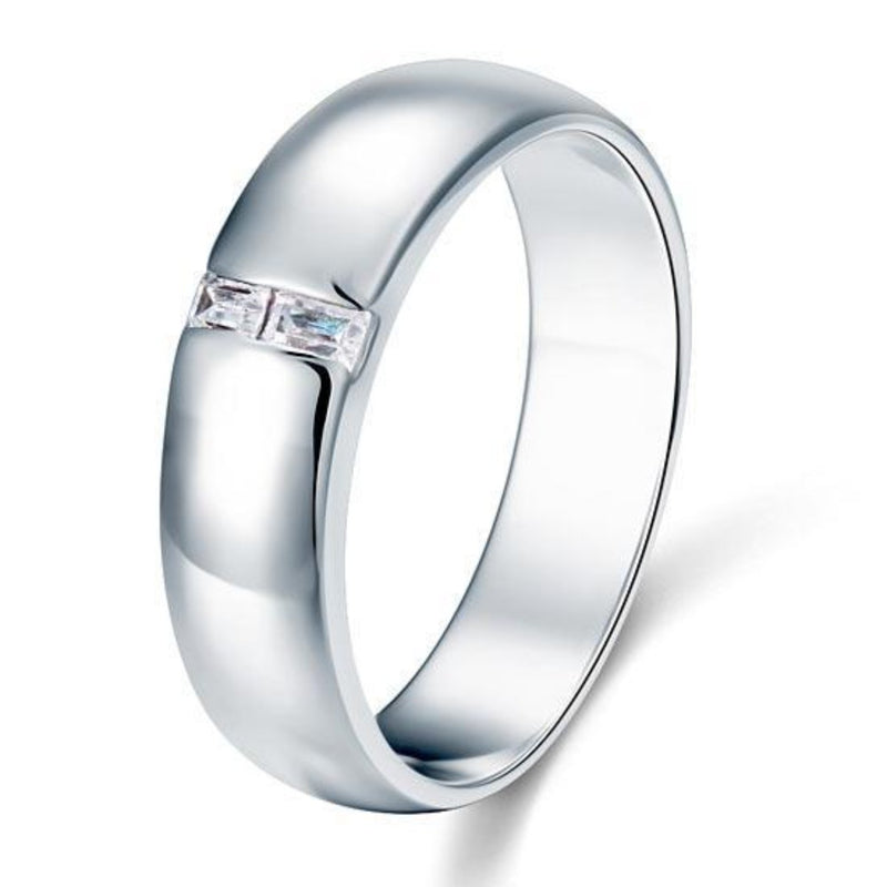 Men's Emerald Cut Band