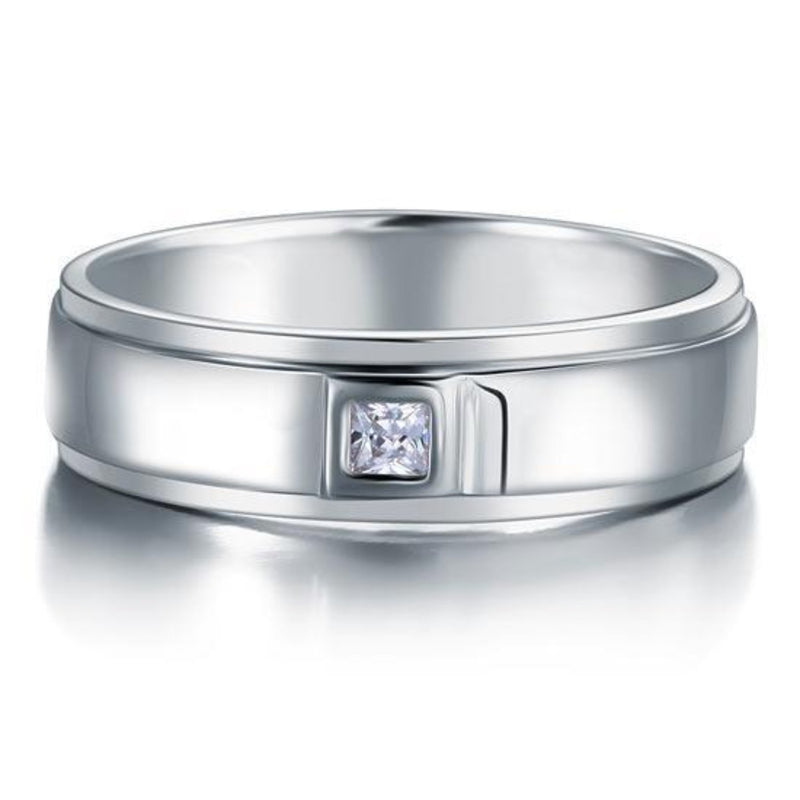 Solid Drop Bezel 3(mm) Stone Band Ring