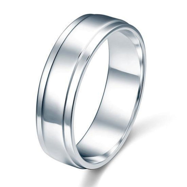 Solid Traditional Drop Bezeled Band Ring