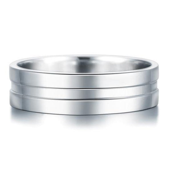 Solid Mid Indented 6.3(mm) Band Ring