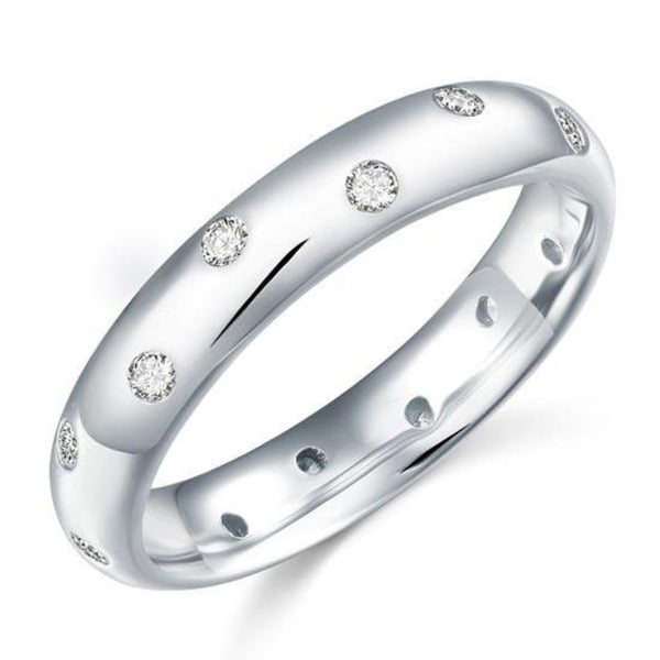 Pave Set Dot Ring