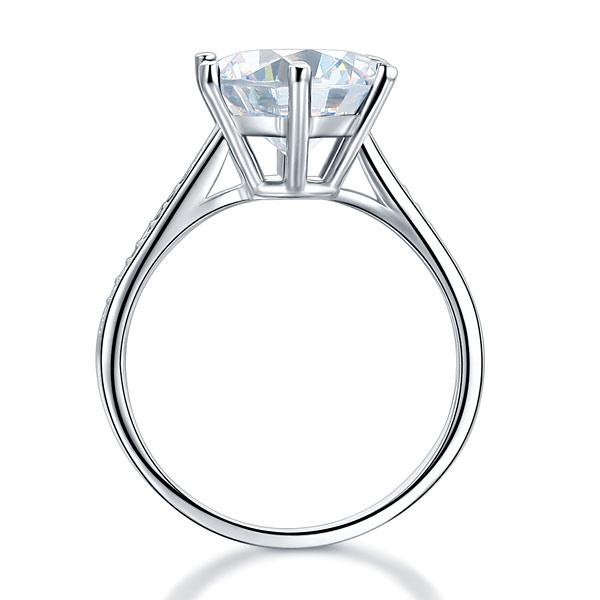 Engagement 3 Carat Round Cut White Sapphire Ring