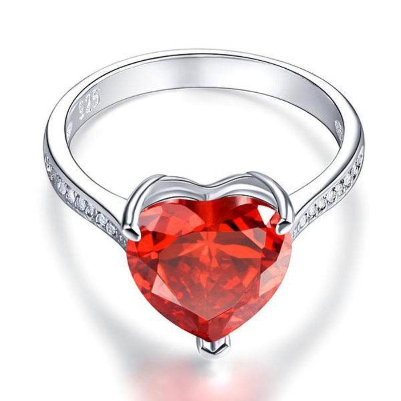 Red, Ruby, 3.5 carat, DBE Jewels, Promise Ring, Nice, Sapphire