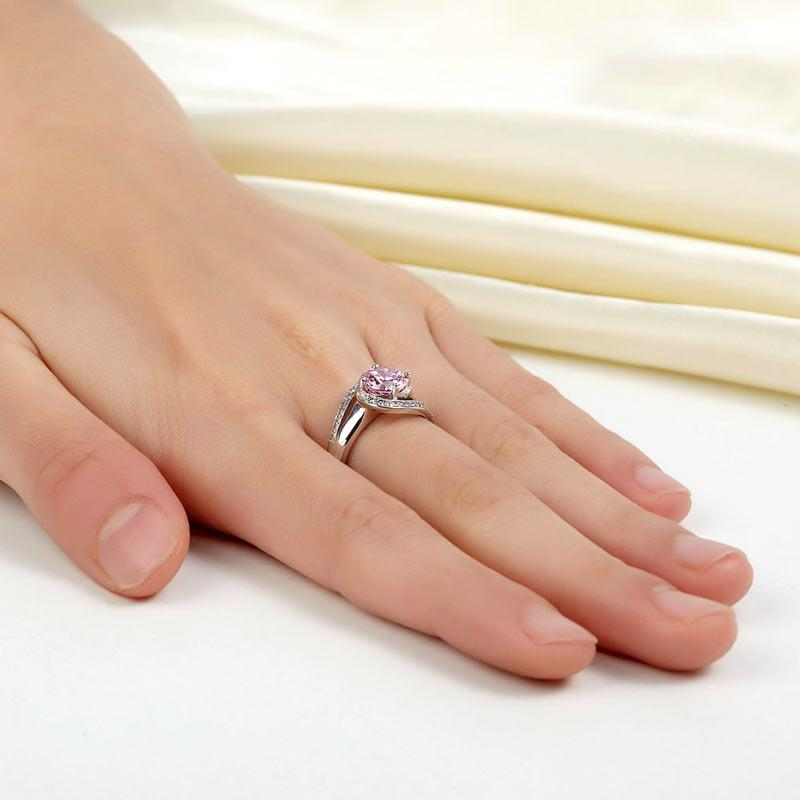 Pink, Simple, Ring, DBE Jewels, Nice, Bling, Jewelry, Carats, Sterling Silver, 925