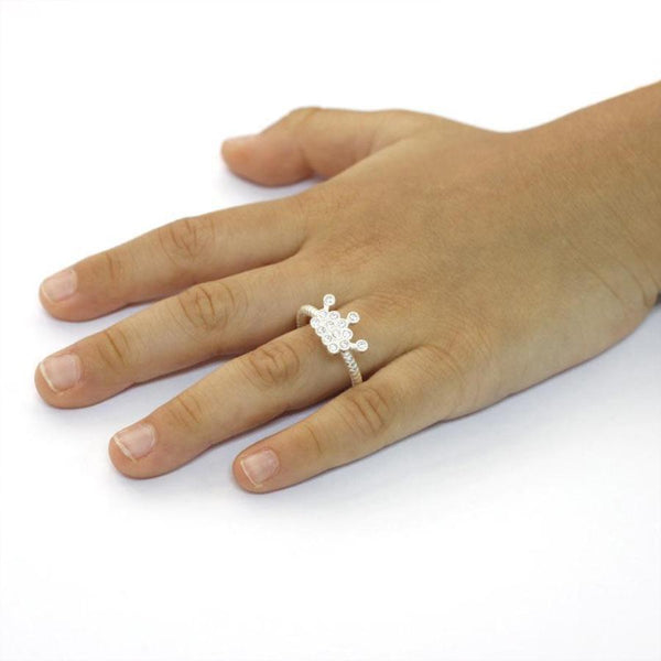 Girls Princess Crown Adjustable Ring