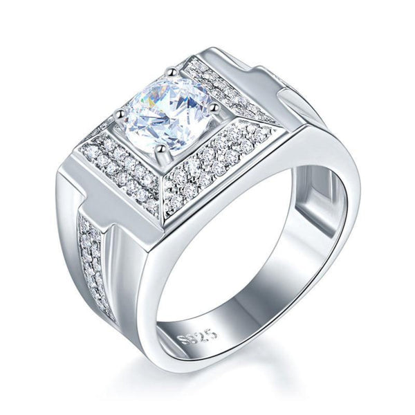 Solid Bold 1 Carat Micro Set Band Ring