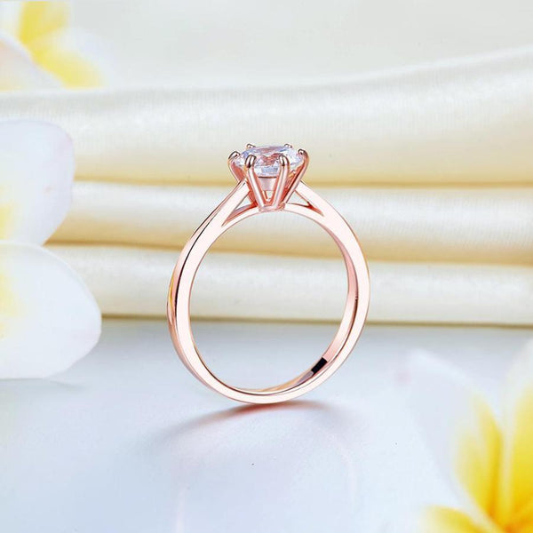 Rose Gold 1 Carat Solitaire Promise/Fashion Ring.