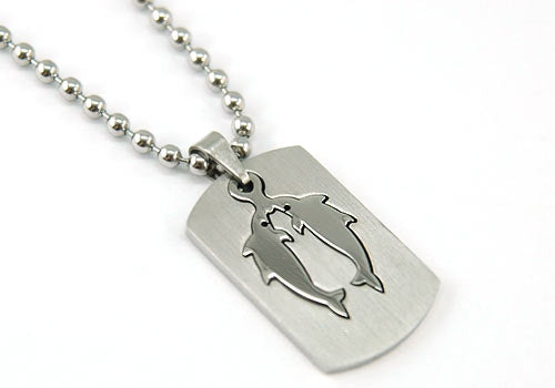 Pisces Mens Pendant Necklace