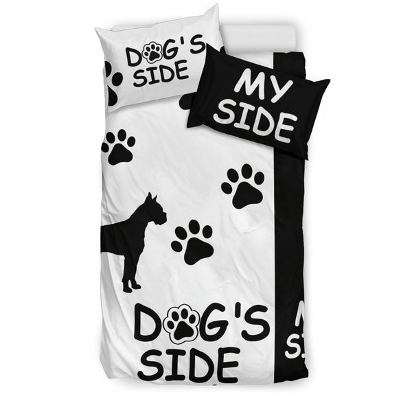 "Boxer Duvet Cover Set ""Dog's Side, My Side""-DogsTailCircle"