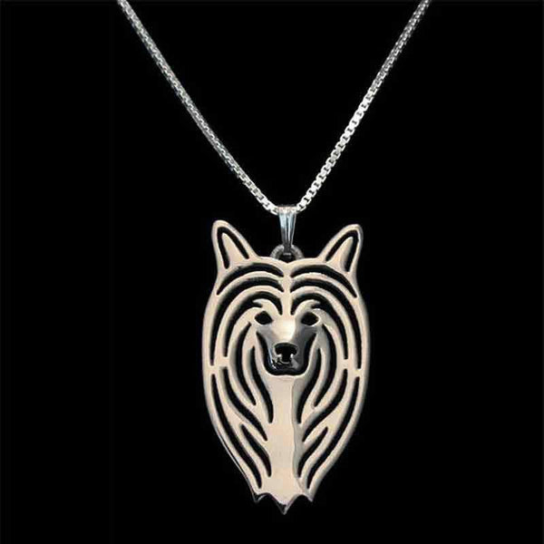 Chinese Crested Dog Necklace-DogsTailCircle