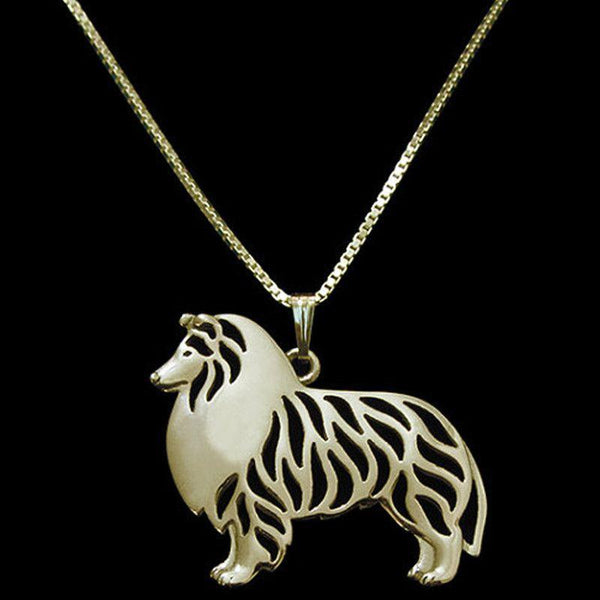 Collectable Collie Dog Necklace-DogsTailCircle